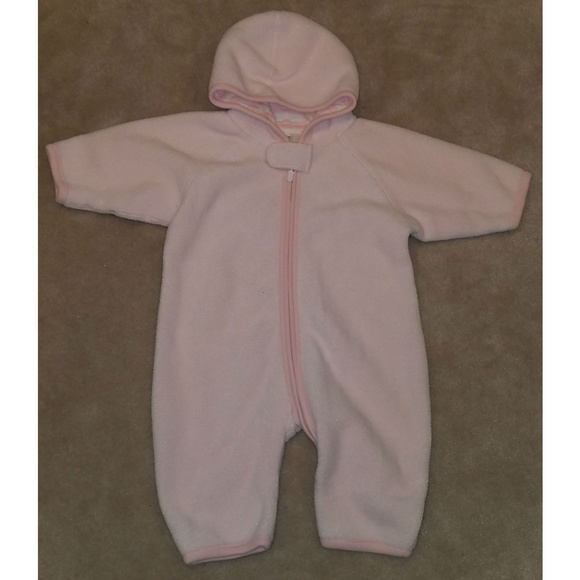 f991a30e2 Hanna Andersson One Pieces | Pink Fleece Hooded Outfit Bunting ...